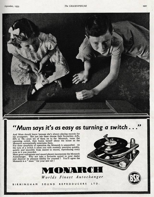 naprawa gramofonu bsr monarch reklama